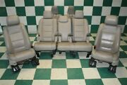 11-12 Explorer Gray Leather Heated Front Left Right 2nd Row 3rd Row Seat Set Oem