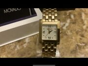 Authentic Movado Luko Unisex Mid-size 14k Solid Gold Tank Watchwt Over 70 Grams