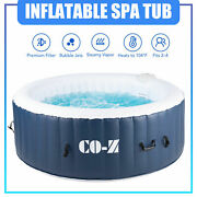 6and039x6and039 Inflatable Hot Tub Portable Jacuzzi With 120 Jets And Air Pump Ideal For 4