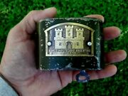 Vintage Piggy Bank Saving Money Coin Box Working With Key