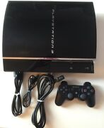 Sony Playstation 3 60gb Console Bundle W/ Hdmi And Controller Backward Compatible