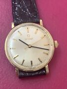 Vintage Omega 14k Solid Gold Manual Wind Watch Cal 601 Extra Nice