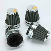4x60mm Inlet Cold Air Intake Tapered Black Pod Air Filters Clean For Motorcycle