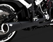 Vance And Hines Pro Pipe Exhaust 2 Into 1 System Black For Harley Breakout 2018-19