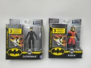 Dc Spin Master Robin Red Hood And Catwoman Figures