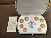 Vatican 2003 Proof - Euro Serie - 1c-2andeuro 8 Coins And Silver Medal
