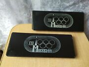 Rare Old Vintage Soviet Ussr Car Retro Olympic Games Moscow 1980 Hood Pads