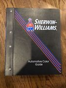 Sherwin Williams Automotive Finishers Paint Chart Color Chip Guide Books 91-04