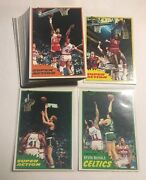 Lot Of 10 Sets 1981-82 Topps Basketball East Complete Set 67-110 Bird Mchale Rc