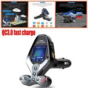 Bluetooth Car Fm Transmitter Mp3 Player Hands Free Radio Kit Usb Fast Charger