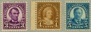 Us Scott555556557 Mint Nh Vf-xf 1914 Issue Great Stamps Pristine Condition