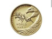 2020 End Of World War Ii 2 Ww2 75th Anniversary 24 K Gold Coin In Hand