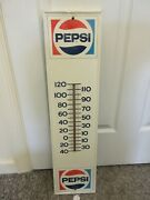 Vintage Pepsi Cola Soda Thermometer Advertising Store Display A-145