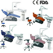 Dental Unit Chair Computer Controlled Electric Valve Dc Motor Hard Leather 4size