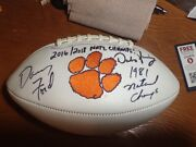 Danny Ford And Dabo Swinney Signed Clemson Tigers Football With National Titles