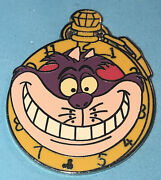 Disney Dlr 2007 Hidden Mickey Lanyard Alice Watch Collection Cheshire Cat Pin