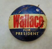 Vintage Wallace For President Pin Button Election Political 1 Inch Pre 1942