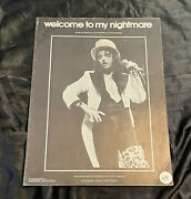 Sheet Music Welcome To My Nightmare Alice Cooper