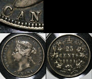 Nice Varieties - 25 Cents - 1881h Repunched A/a Canada - Ef C506