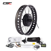 Canada Stock 26'' Fat Tire Bicycle Electric Conversion Ebike Kit 1500w 1000w 48v