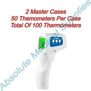 100-pack Berrcom Non-contact Infrared Forehead Thermometer Medic Grade Jxb-178