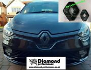 Carbon Effect Frontandrear Logo Covers For Renault Clio 4 2013-2016 Cars W.camera