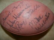 Nitschkewebstergregg And Hannah Autographed 75th Annivesary Football Rare