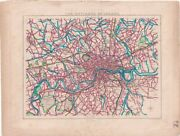 Antique Map, The Environs Of London, 1830 Ca. 27.5 X 21 Cm.