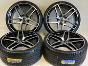 21andrdquo Staggered Wheels Rims Fit Mercedes Benz Amg S Class S550 06-2020 Black 5x112