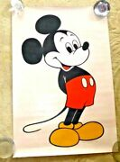 Vintage Lovely Poster Cartoon Character Mickey Mouse Walt Disney Productions