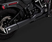 Vance And Hines Pro Pipe Exhaust 2 Into 1 System Black Harley Sport Glide 2018-19
