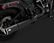 Vance And Hines Pro Pipe Exhaust 2 Into 1 System Black For Harley Softail 2018-19