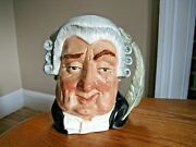 Royal Doulton Large 6 3/4 Character Toby Jug The Lawyer D6498 1958