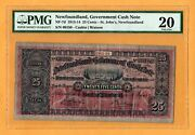 Government Of Newfoundland Cash Note St.johnand039s 1913-1914 25 Cents Nf-7d Pmg-20