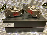 Hel Performance Billet Radial Motorcycle Race Front Brake Calipers 108mm And Pads