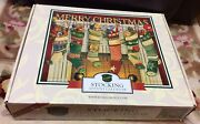Byers Choice Christmas Stocking Wooden Advent Calendar 18x15 Nibnew Open Box