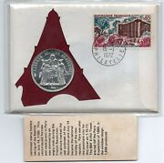 1972 France 10 Francs Silver Crown Coin Cover Pnc Fdc 99 Company Cracked Plastic