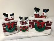Brand New Bath And Body Works Santa In Chimney Set Of 3 Look Look