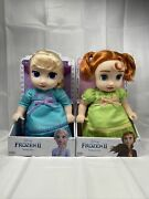 Disney Frozen Ii Young Elsa And Young Anna 2 Doll Exclusive Set 11 -12 Toddler