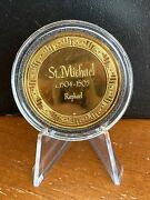 St. Michael Raphael - Gold Electroplate On Sterling Coin