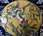 Large Antique Chinese Cloisonne Enamel Box With Bats Andpeaches 16 Inches Diameter