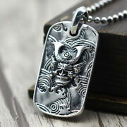 Menand039s Womenand039s Real Solid 925 Sterling Silver Pendants Jewelry Prajna Mask