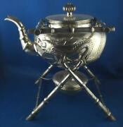 Teekanne Cattle Teapot Chinese Export Silver 925er Sterling Silber