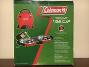 Coleman Fold N Go Propane Stove 2-burner Outdoor Camping Tailgate Cooking New