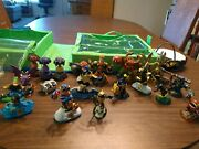 Lot Of 18 Skylander Giants Figures And Pieces + Portal, Game, And Carrying Case
