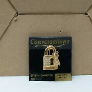 Vintage Signed Savvy By Lock And Key Pin New