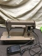Vintage Singer 301-a Sewing Machine Good Working Condition Foot Pedal