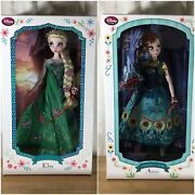 Disney Store 17 Limited Edition Frozen Fever Elsa And Anna Dolls New In Box