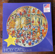 New Holy Cats Great American Puzzle Factory 500 Piece Round By Bill Bell
