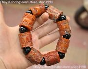 Old Chinese Ox Horn Hand-carved Prayer Rosary Bracelet Hand Ring